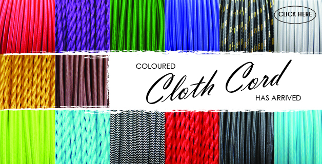 Coloured Fabric Cloth Cable & PVC Cable