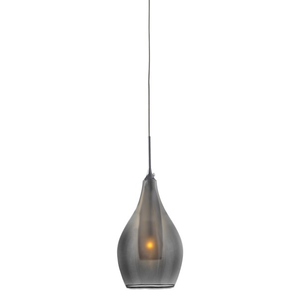 Modern Smoked Glass Pendants Lighting Bailey Lights