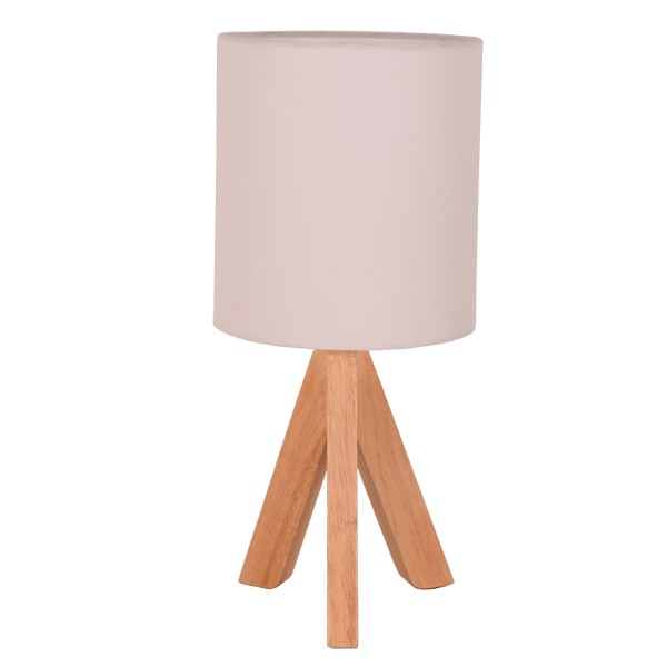 Wooden Table Lamps White Fabric Timber Lighting Wooden Lights