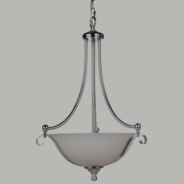 Chrome Dallas Lighting Single Suspension Ceiling Lights