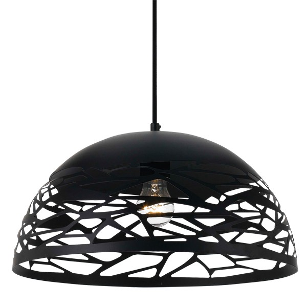 Black Shadow Pendant Lighting Farina 50cm Ceiling Lights