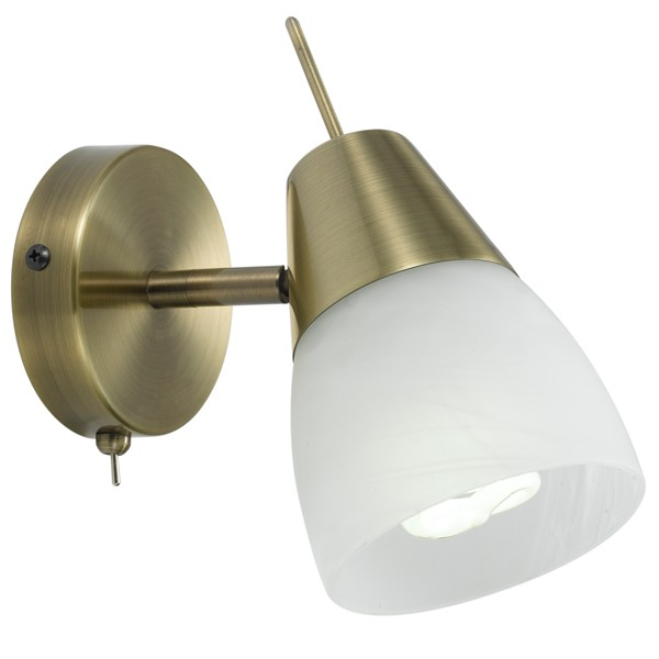 Brass Gibson Lights Spotlight With Switch Indoor Wall Lighting