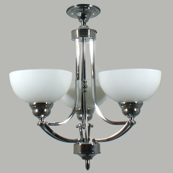 Getting To Grips With Ceiling Lighting: Contemporary Lighting Houston Flush CTC Ceiling Lights Chrome