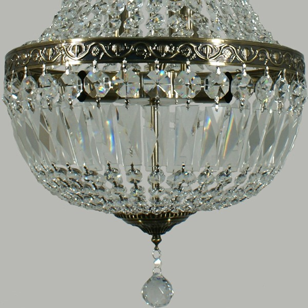 Lighting Le Pavillon Large Hanging Basket Crystal Lights