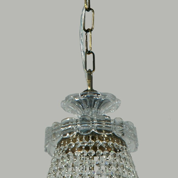Le Pavillon Crystal Lighting Brass Hanging Basket Lights