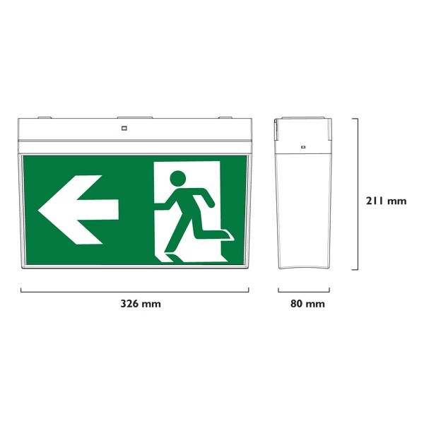 24m Led Exit Lights Surface Mounted Lighting