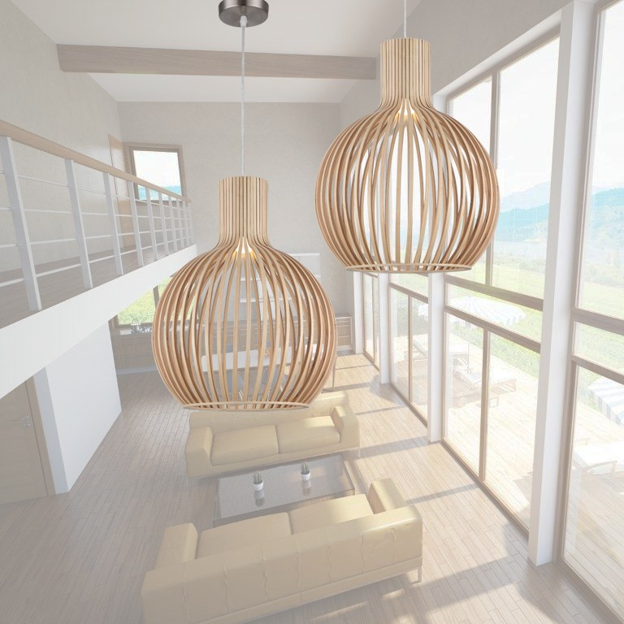 timber replica seppo koho octo lights pendant lighting. Black Bedroom Furniture Sets. Home Design Ideas