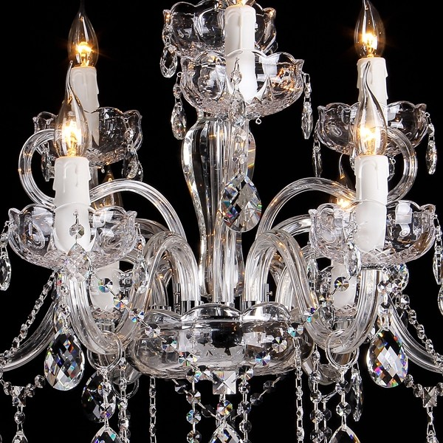 Large Prague Crystal Classical Lights Chandelier Lighting