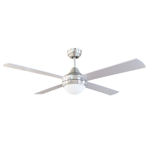 Timber Frame Ceiling Fan : Tempo timber blade ceiling fan brushed aluminium