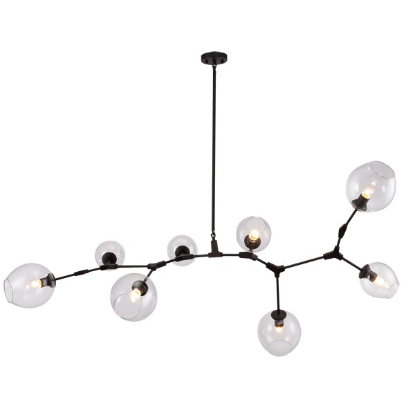 Black Replica Pendants Lights Lindsey Adelman Chandelier Branching Bubbles