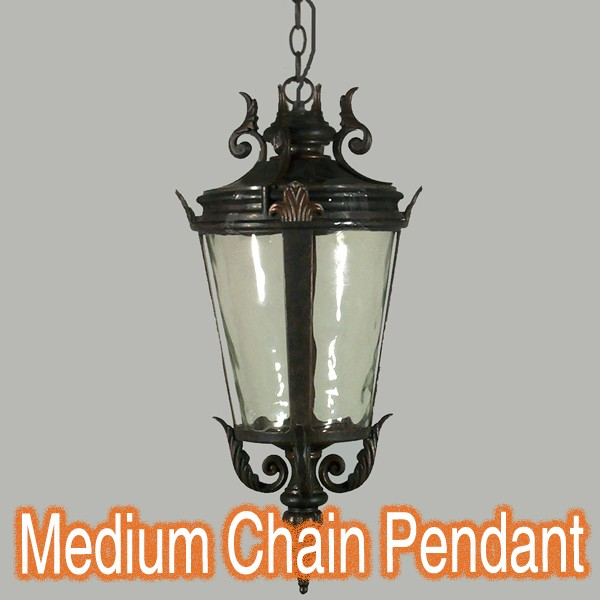 Albany Chain Traditional Large Pendant Light Antique Bronze