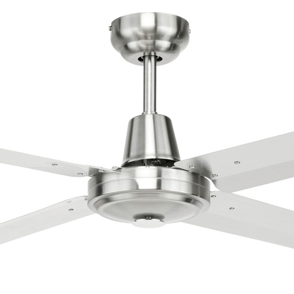 "Atrium 56"" AC Metal Rust Resistant Coastal Ceiling Fan 316 Stainless Steel Brilliant Lighting"