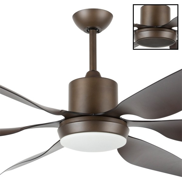 "Aviator 66"" DC Moulded 6Blade Ceiling Fans Bronze Brilliant Lighting"