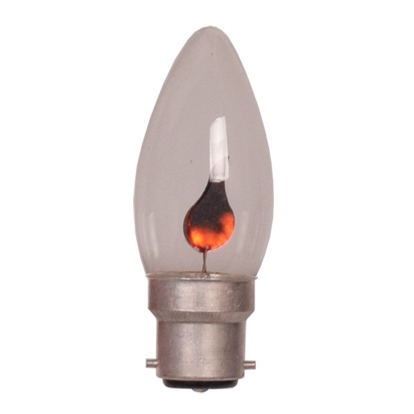 B22 Flicker Flame Candle Bulb Chandelier Lighting Globes