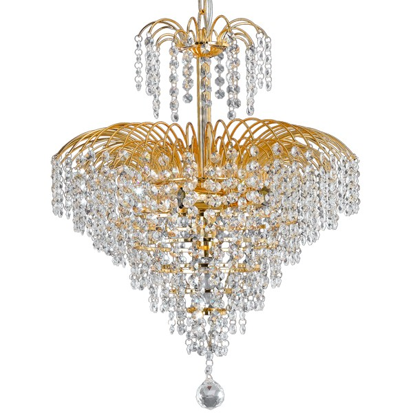 Cascade 43 Waterfall Gold Chandelier Light