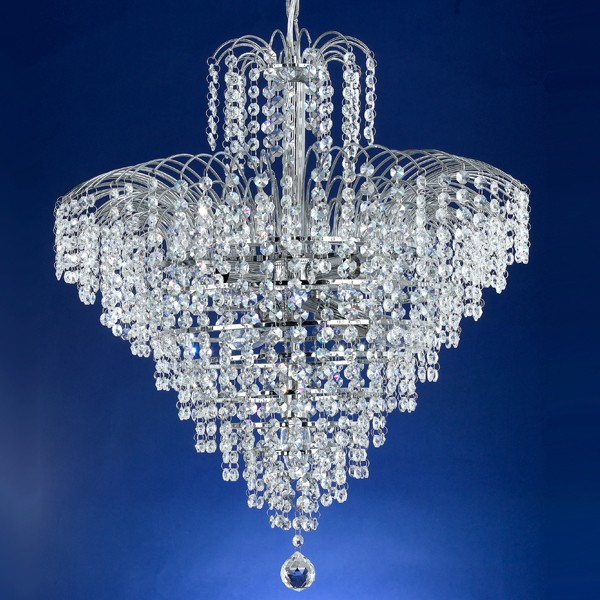 Cascade 53cm Chandelier Light Chrome