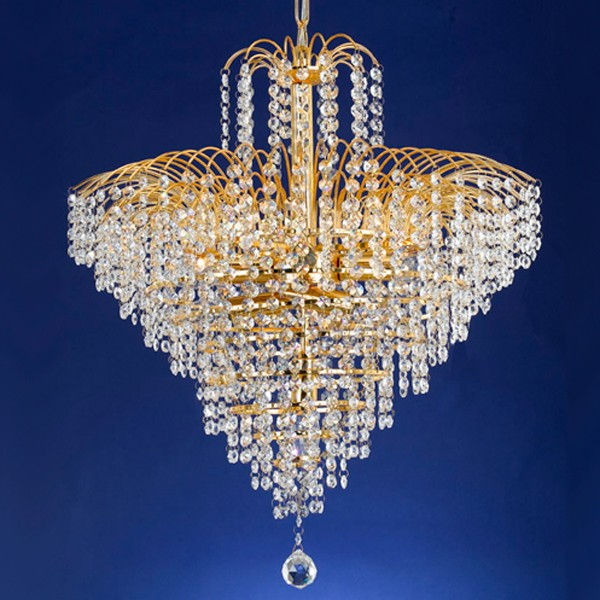Cascade 53cm Chandelier Light Gold