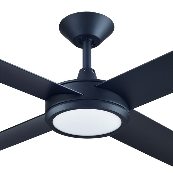 "LED Ceiling Fans Hunter Pacific Concept3 52"" Dimming LED AC Matt Black"
