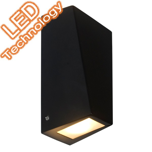 Conley LED 2 Light Outdoor Wall Lamp Black