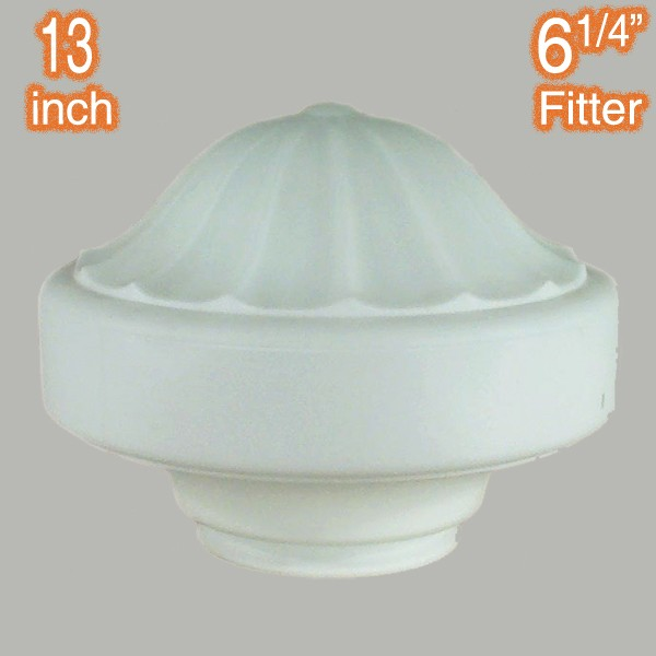Derby 13 inch Glass Shade Opal Matt