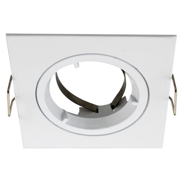 White Square Fixed Downlight Frame Only