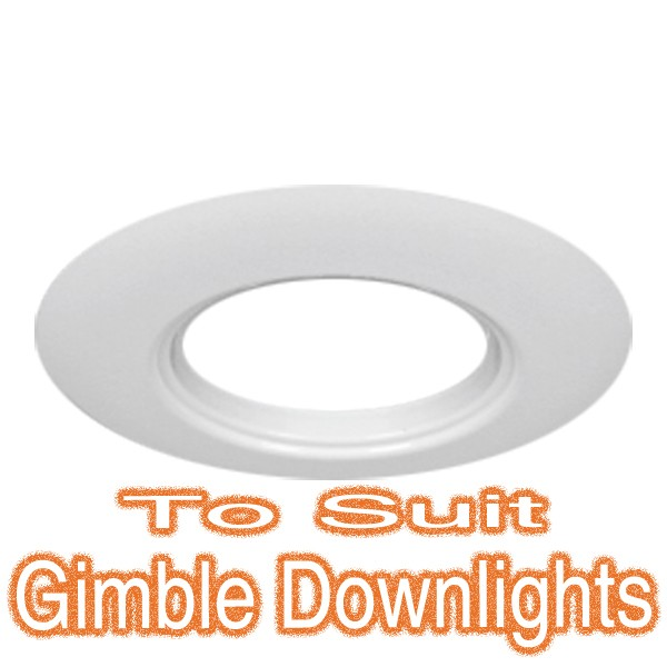 White Downlight Adaptor Plate - 90mm