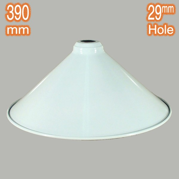 Industrial Edwardian 390mm Metal Shade White