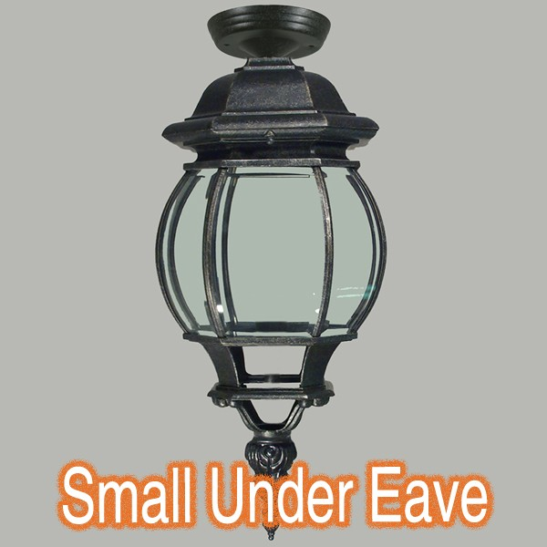 Flinders Black Eave Lighting Traditional Perios Exterior Lights