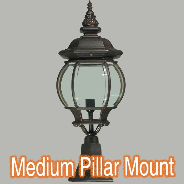 Flinders Bronze Lighting Pillar Brick Light Period Traditional