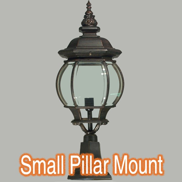 Bronze Lighting Flinders Small Outdoor Pillar Mount Light