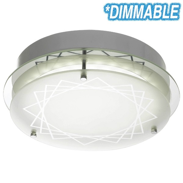 20w Led Dimmable: Fosco 20w LED Oyster Lights Dimmable Ceiling Lighting