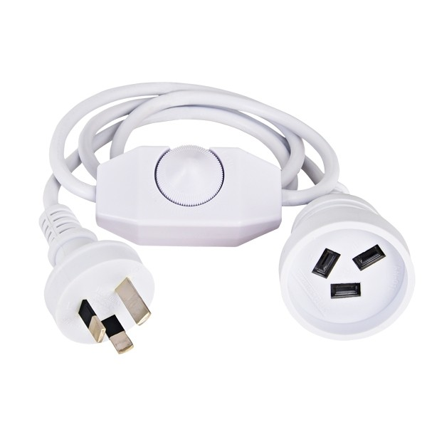White Plug Dimmer Switch LED Table Floor Lamps Dimming Lighting Hawk Rotary