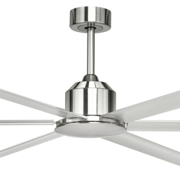 "Aluminium Huge Ceiling Fans Hercules 96"" DC Metal 6Blade Brilliant Lighting"