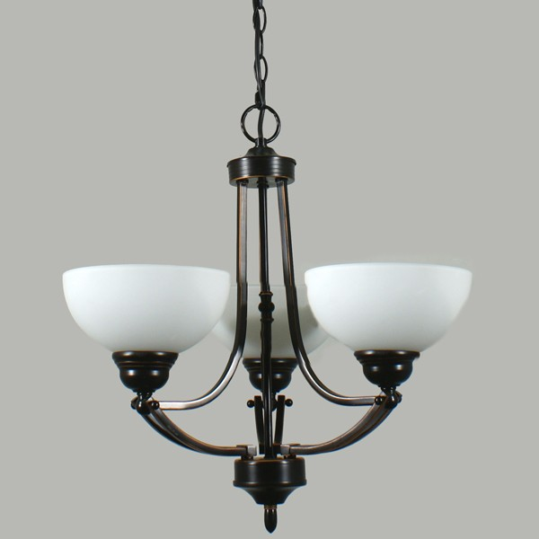 Contemporary Lighting Houston 3 Lights Pendant Ceiling Bronze