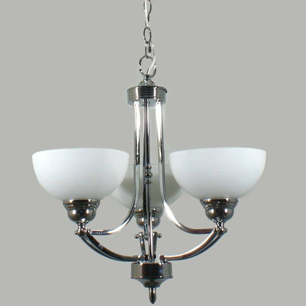 Chrome Houston 3 Lights Chandelier Pendant Lighting