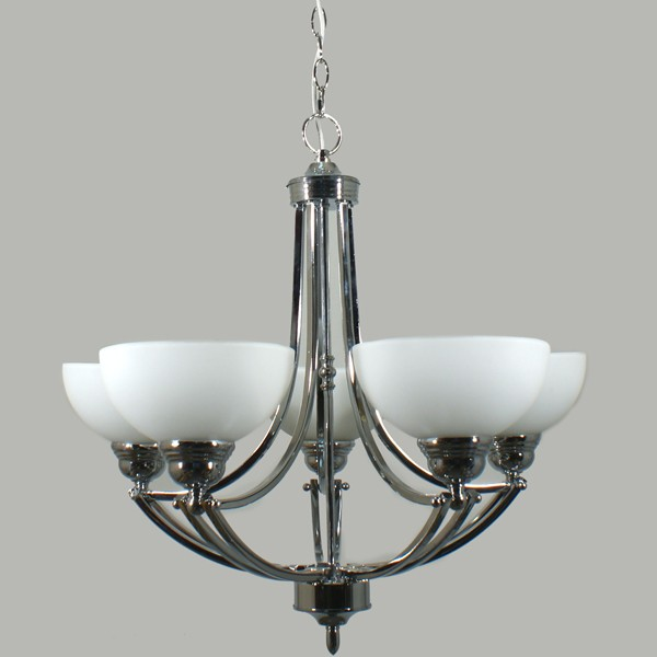 Contemporary Ceiling Lighting Houston Pendant 5 Lights Chrome