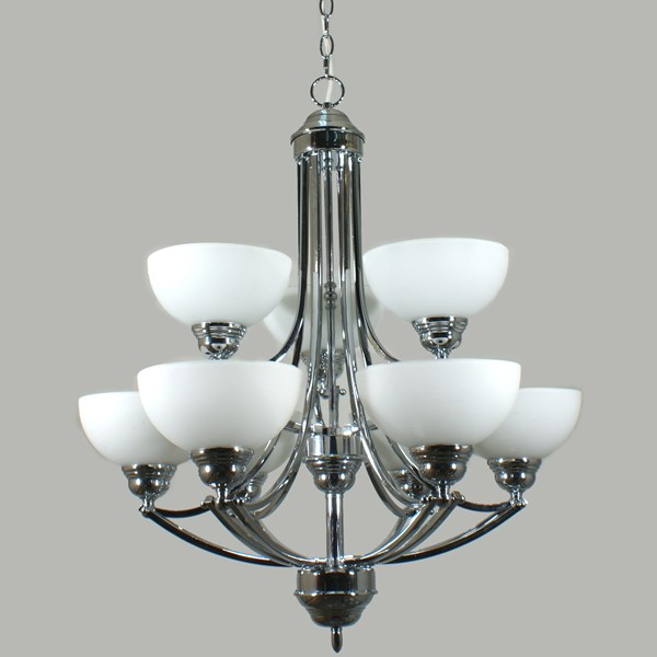Houston Hanging Chandelier Lights Ceiling Pendant Lighting Chrome