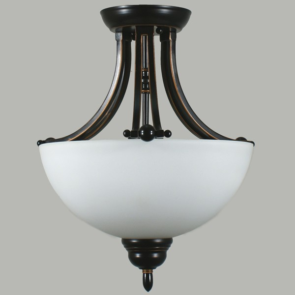 Houston Bronze Lighting Semi Flush Mount Ceiling Lights Traditional