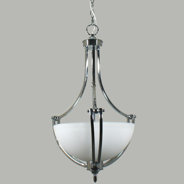 Houston Chrome Pendant Lighting Single Suspension Ceiling Lights