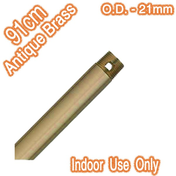 Antique Brass Downrod 91cm - Indoor Only (21mm O.D.)