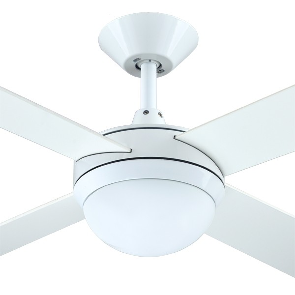 "Intercept2 52"" Light AC White Ceiling Fans Timber Bedroom Hunter Pacific"