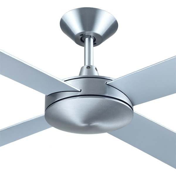 "Intercept2 52"" AC Brushed Aluminium Ceiling Fans Plywood Hunter Pacific"
