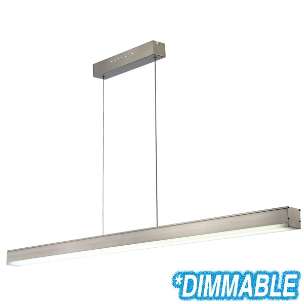 Aluminium Extrusion Lighting Pendants LED Linear Bench Lights Suspended Commercial
