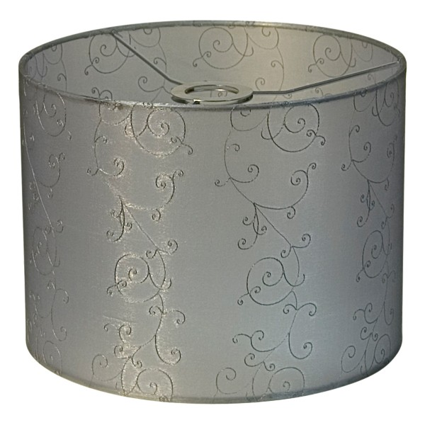 Lacey 40 Large Fabric Shade Silver