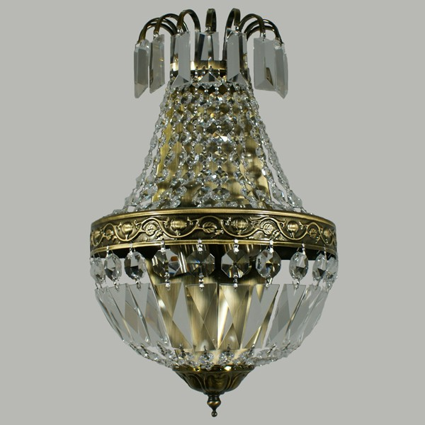 Wall Sconce Lights Le Pavillon Antique Brass Lighting Crystal Lode International