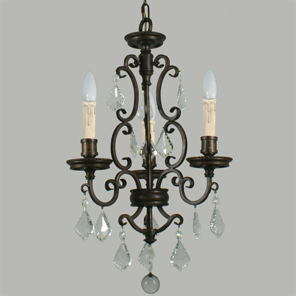 Louis 15th 3 Lights Pendant Lighting Colonial Traditional