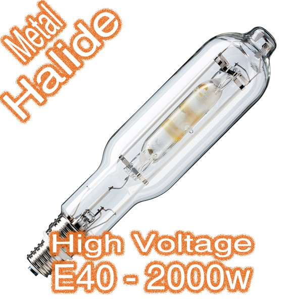 2000w E40 Metal Halide Tubular Lamp 415v HID Globe