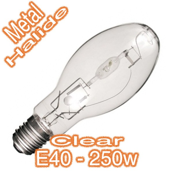 Commercial 250w E40 Metal Halide Clear Eliptic Lamp 240v HID Globe