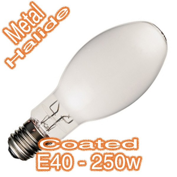 250w E40 Industrial Metal Halide Coated Eliptic Lamp 240v HID Globe