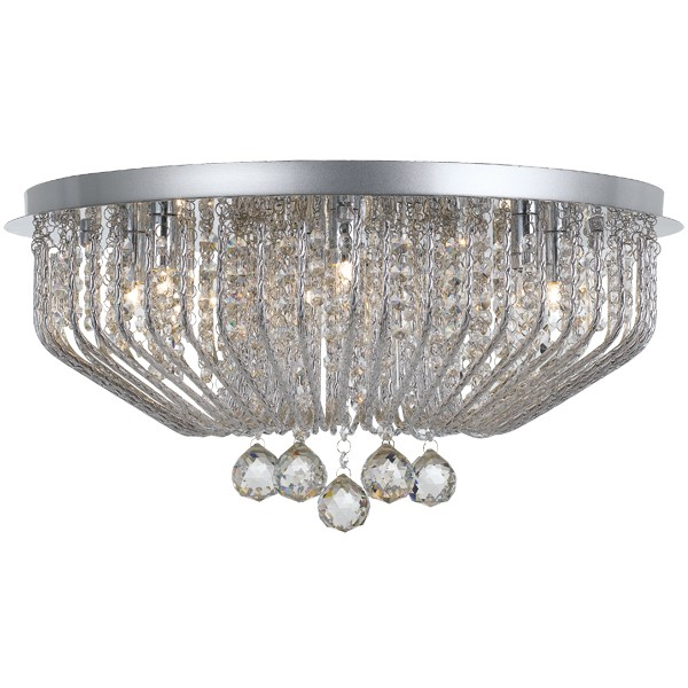 Telbix pintor 9 lights ctc close to ceiling lighting crystal flush aloadofball Images